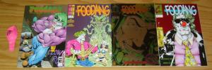 Foodang set of (4) VF/NM complete series + balloon - george perez - clown hero