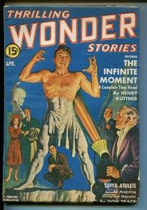 THRILLING WONDER STORIES 8/1942-EARLE K BERGEY-RAY CUMMINGS-PULP-vg/fn
