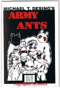 ARMY ANTS #10, NM, Michael Desing, Insects,Guns, 1996, more indies in store