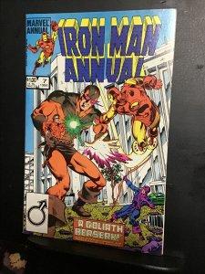 Iron Man Annual #7 (1984) high-grade Goliath, Avengers Key! NM- wow!