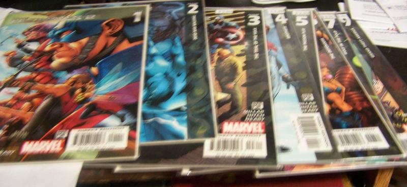 The Ultimates 2 COMICS # 1,2,3,4,5,6,7,9 (2005, Marvel) MILLAR +HITCH