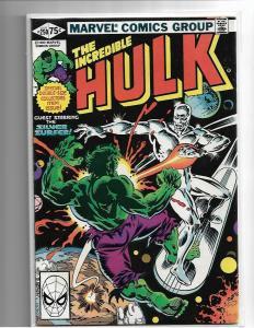Incredible Hulk #250 (1980) - VF/NM Silver Surfer App Nice Copy
