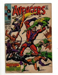 Avengers # 55 VG Marvel Comic Book Hulk Thor Captain America Iron Man OF2