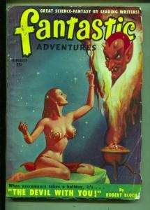 Fantastic Adventures-Pulp-8/1950-Robert Bloch-William Brengle-Peter Phillips