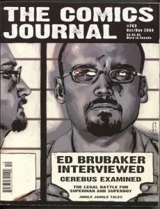Comics Journal #263 2004-Fantagraphics-Ed Brubaker-Superman-FN