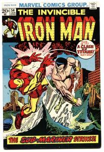 IRON MAN #54 1972-First MOON DRAGON-Marvel Nice tight copy.