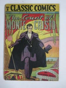 CLASSIC COMICS #3 (FR-G) THE COUNT OF MONTE CRISTO (7th Edition, HRO=28) 1946