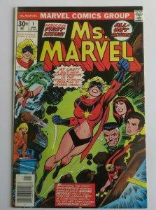 Ms. Marvel #1 FN/VF Key Issue Marvel Bronze Age Comic 1977