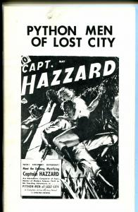 Pulp Classics #2 1974-Python Men of The Lost City-Capt Hazzard-FN