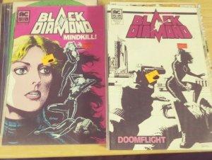 black diamond # 2 +3 ac americomics 1983 sybil danning spy movie doom fight