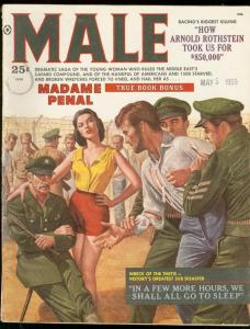 MALE JUNE 1959-SPICY GOOD GIRL ART COVER-MADAME PENAL VG