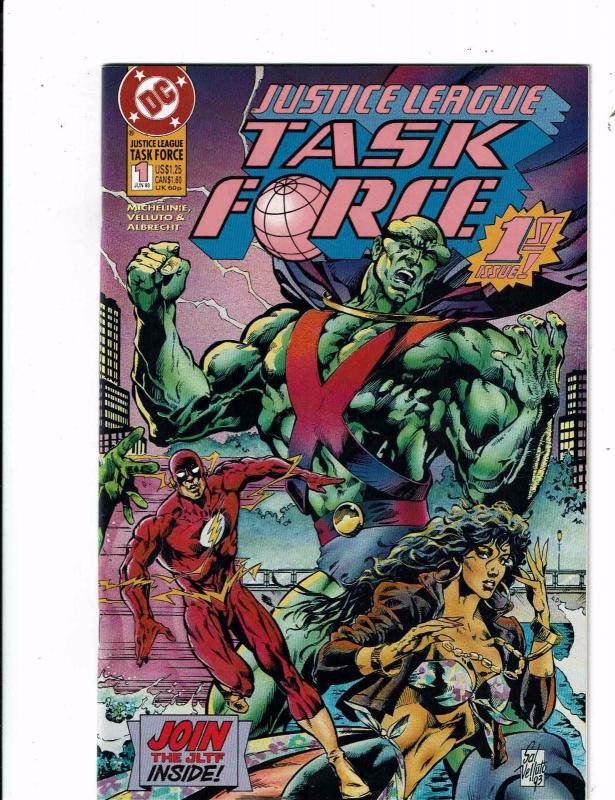 Lot of 4 Justice League Task Force DC Comic Books #1 2 4 5 KS3