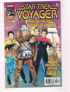 Star Trek Voyager #3 VF Marvel Comics Comic Book Jan 1997 DE44