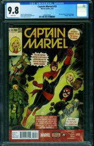 Captain Marvel #10 CGC 9.8 Ms. Marvel #1 homage-2015 2020819025