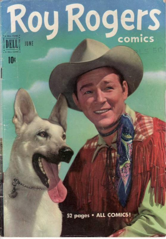 ROY ROGERS #42 TRIGGER DELL  1951  EGYPTIAN COLLECTION VG