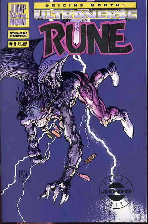 Rune #1SC VF/NM; Malibu | save on shipping - details inside