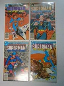 Superman The Secret Years set #1-4 6.0 FN (1985)
