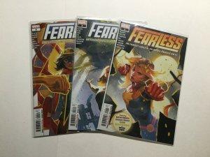 Fearless 1 3 4 Lot Run Set Near Mint Nm Marvel