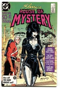ELVIRA'S HOUSE OF MYSTERY #7 1986 cool cover - comic book