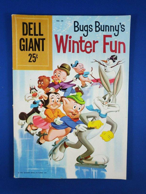 DELL GIANT BUGS BUNNY WINTER FUN 28 VG+ 1960