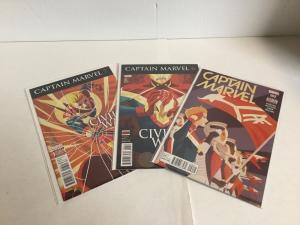 Captain Marvel 2 6 7 Lot (2016) Nm Near Mint Marvel Comics A16