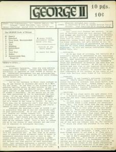 George Fanzine #2 1971- Newsletter format reviews- Rare VG