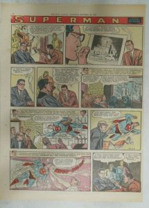 Superman Sunday Page #939 by Wayne Boring from 10/27/1957 Size ~11 x 15 inches