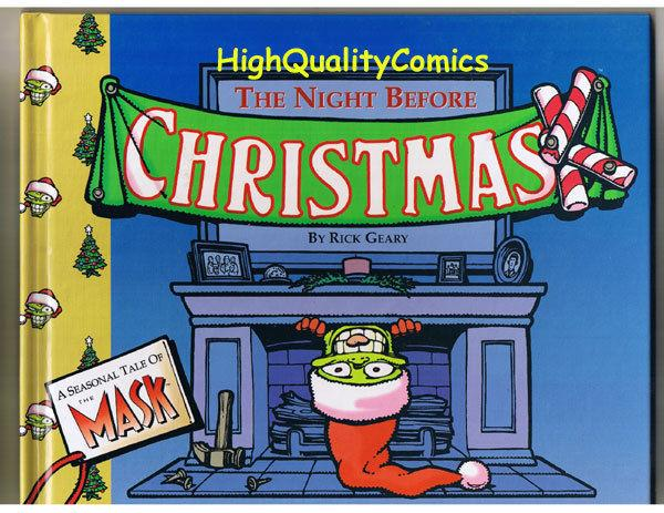 MASK in NIGHT BEFORE CHRISTMAS, HC, 1st, NM, Rick Geary, 1994, Xmas