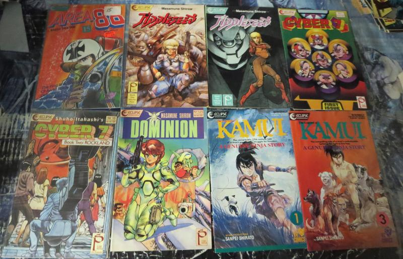 Eclipse Manga Mega-Lot! 59 books- Area 88, Kamui, Appleseed, Mai, Xenon,Cyber 7!
