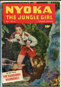 NYOKA THE JUNGLE GIRL #59 1951-FAWCETT-PHOTO COVER-GOOD GIRL ART-fn minus