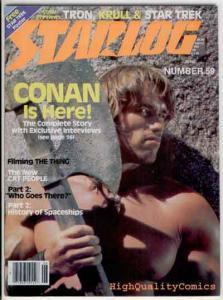 STARLOG #59, VF, Conan, Schwarzenegger, Star Trek, Khan