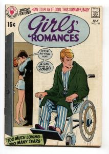 Girls' Romances #150 1970-DC-WHEELCHAIR cover-COMIC BOOK