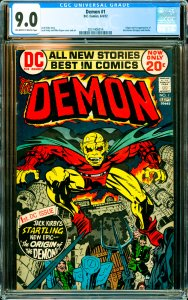 Demon #1 CGC Graded 9.0 Origin and 1st appearance of the Demon (Etrigan) and ...