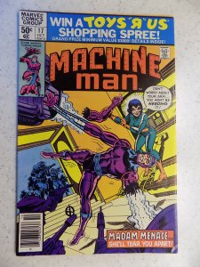 MACHINE MAN # 17 MARVEL KIRBY ACTION ADVENTURE