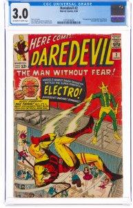 Daredevil #2 (Marvel, 1964) CGC Graded 3.0