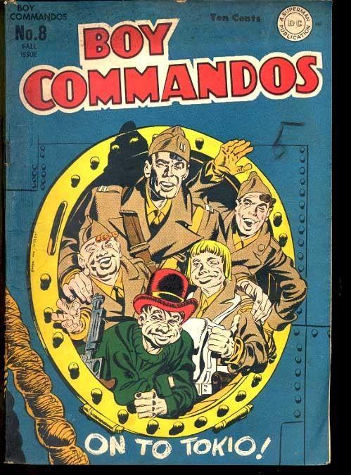 BOY COMMANDOS #8-WWII TOKYO COVER-1944 VG-JOE SIMON & JACK KIRBY ART