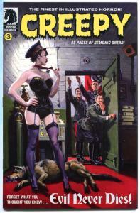 CREEPY #3, NM, The Curse, Maquiladora, Fuhrer cover, Demonic, 2009, Horror