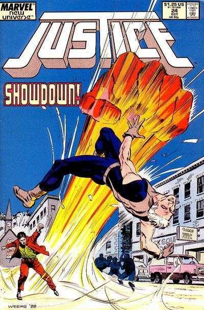 Justice (1986 series) #24, NM- (Stock photo)