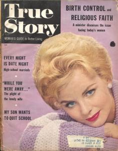 True Story 4/1960-pulp exploitation with posed photos-photo cover-FR