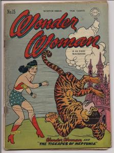 DC Comics Golden Age,WONDER WOMAN #15,William Moulton Marston,H G Peters,