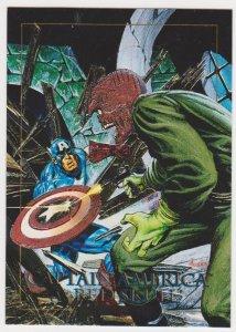 1992 Marvel Masterpieces #5-D Card Captain America vs Red Skull