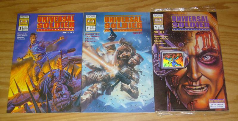 Universal Soldier #1-3 VF/NM complete series based on Jean-Claude Van Damme film