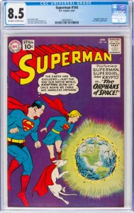 Superman #144 (DC, 1961) CGC 8.5 Off-white to white pages.