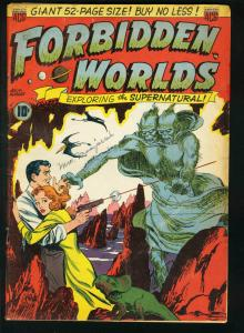FORBIDDEN WORLDS #1-FRANK FRAZETTA HORROR ART-VAMPIRE VG-