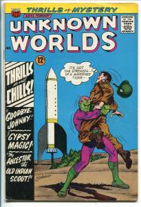 UNKNOWN WORLDS #45 1966-ACG-WWII-ROCKET COVER-KURT SCHALLENBERGER-fn
