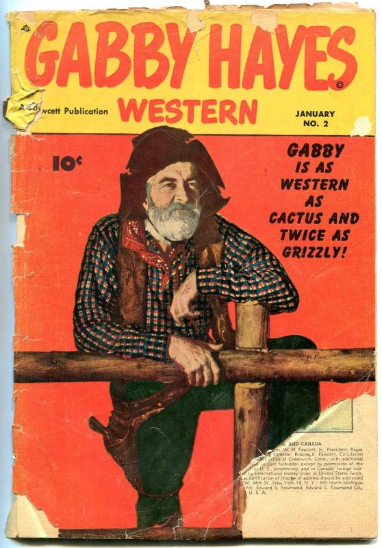 Gabby Hayes Western #2-1949-PHOTO COVER Fawcett Golden Age low grade