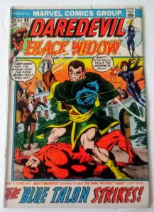 Daredevil #92 (FN) 1972 National Jewelers Insert variant Bronze Age Marvel ID31H
