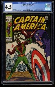 Captain America #117 CGC VG+ 4.5 Off White to White 1st Falcon! Marvel Comics