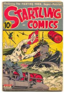 Startling Comics #28 1944- Nedor- Schomburg Nazi cover Pyroman VG+
