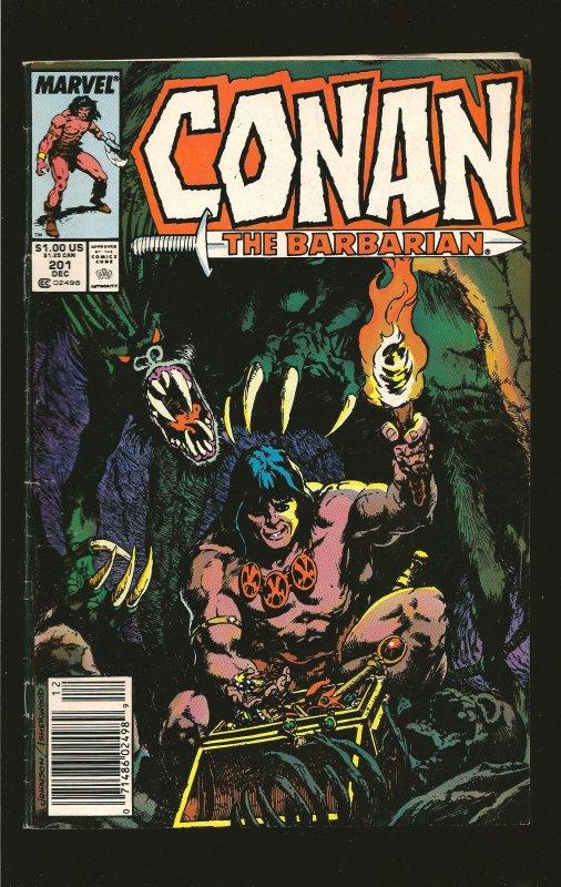 Marvel Comics Conan The Barbarian Vol 1 No 201 December 1987